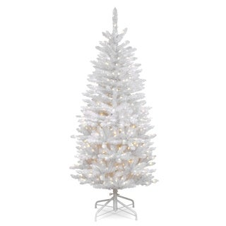 Kingswood White 4.5-foot Fir Pencil Tree with Clear Lights