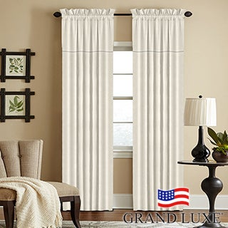 Grand Luxe Linen York Rod Pocket Window Collection