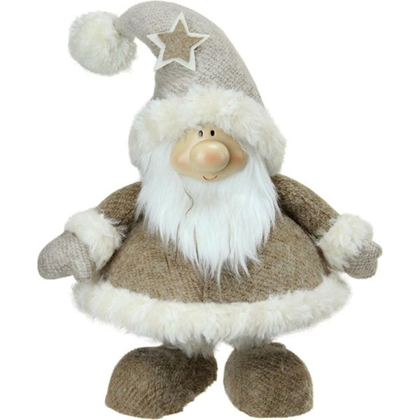 "14.5"" Plush and Portly Champagne Bobble Action Gnome Christmas Tabletop Figure 28843988"