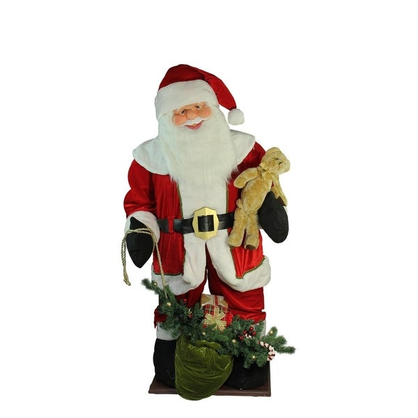 6' Inflatable LED Lighted Musical Santa Claus Christmas Figure with Gift Bag 28844265