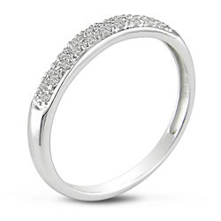 Miadora 14k White Gold 1/10ct Diamond Band (J-K, I2-I3)