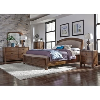 Copper Grove Nikopol Pebble Brown Upholstered Storage Bed