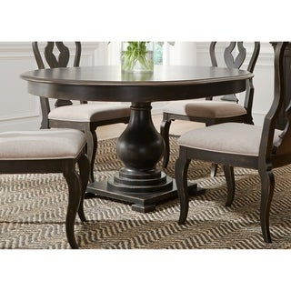 Chesapeake Wire Brushed Antique Black 48x60 Pedestal Dinette Table
