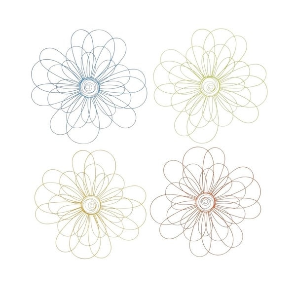 Studio 350 Metal Wall Decor Set of 4, 29 inches wide, 29 inches high 28875388