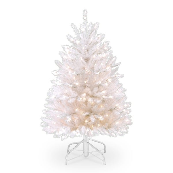 4.5 ft. Dunhill White Fir Tree with Clear Lights 28884553