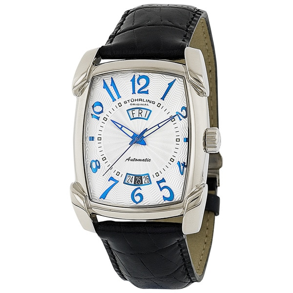 Stuhrling Original Madison Avenue Watch with French-leather strap