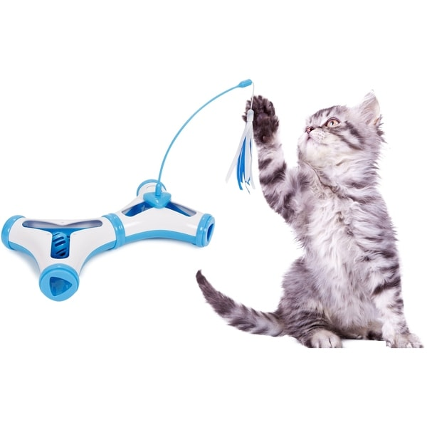 Pet Life Kitty-Tease Interactive Cognitive Training Puzzle Cat Toy 28917674