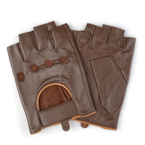 Vance Co. Men's Perforated Motorcycle Genuine Leather Driving Gloves 28925125