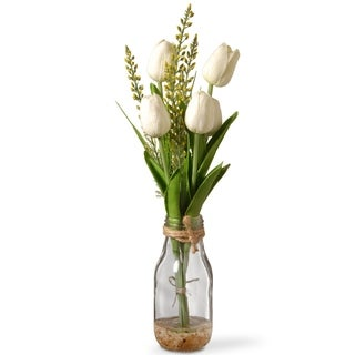 "14"" White Tulip Flowers"