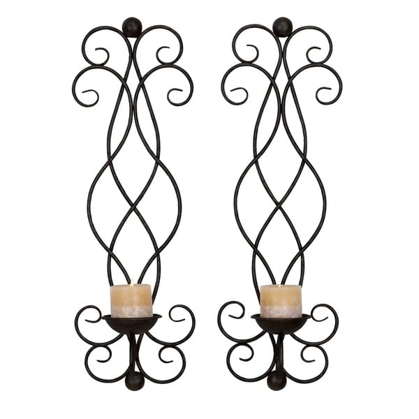 Studio 350 Metal Candle Sconce Set of 2, 25 inches high, 8 inches wide 28932602