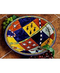 Handcrafted African Design 10-inch Plate (Morocco)