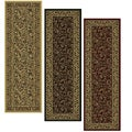 Caroline Floral Heat-set Emerlen Runner Rug (2'2 x 7'7)