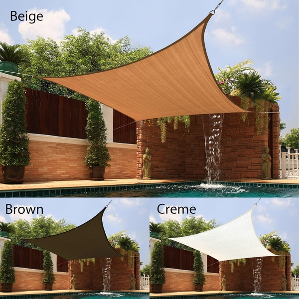 Backyard Awning Shade : Medium Square Sail Extraheavy Fabric Sun Shade  10100425  Overstock