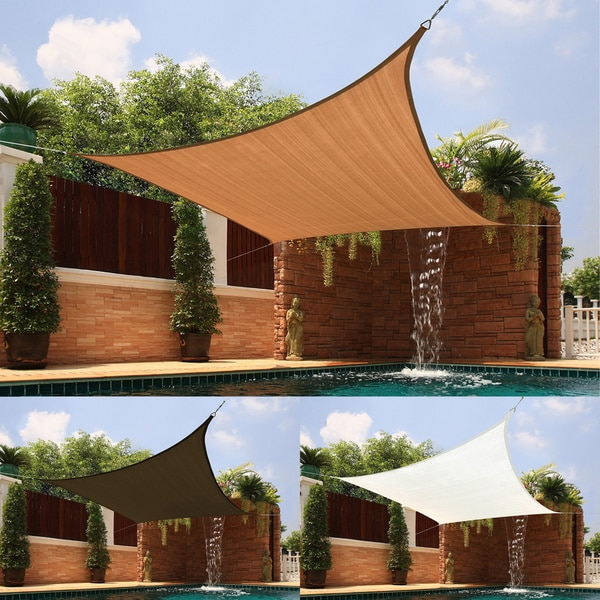 medium square sail sun shade - Patio Sun Shades