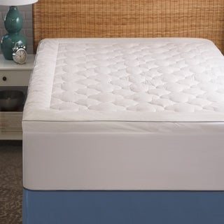 Cozy Classics Cool Sleep Mattress Pad - White