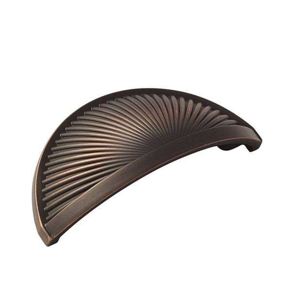Sea Grass 3 in. (76mm) Center Cup Pull - Oil-Rubbed Bronze - Brown 29001771