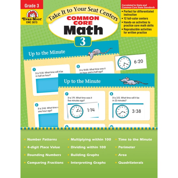 Take It to Your Seat Math Centers, Grade 3 29028420