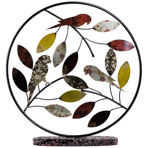 Metal Birds and Leaves Table Top Decor 29029131