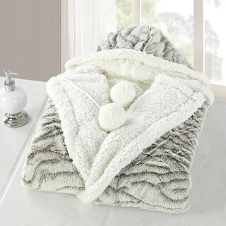 Chic Home Nadine Snuggle Hoodie Animal Print Robe Wearable Blanket