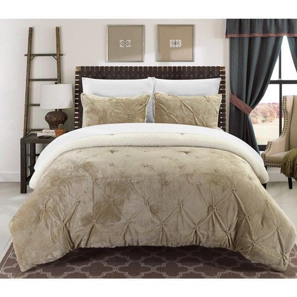 Chic Home Kaiser 7-Piece Comforter Ultra Plush Micro Mink Bedding Set- Beige 29059759