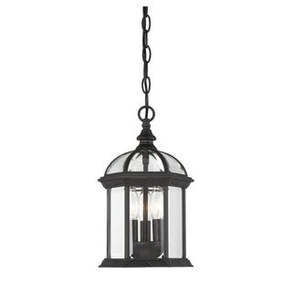 Kensington Hanging Lantern Textured Black