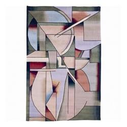 Nourison Hand-knotted Famous Maker Modern Art Multi Wool Rug (5'9 x 8'9)