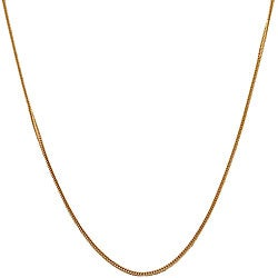 Fremada 14k Yellow Gold 1-mm Square Silk Foxtail Necklace