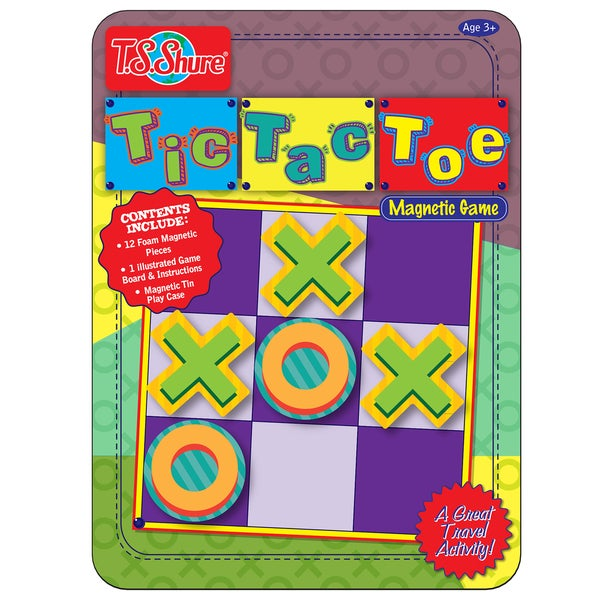 T.S. Shure Tic Tac Toe Deluxe Magnetic Game Tin 29119774