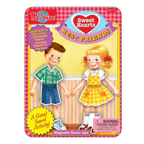 T.S. Shure Sweetheart Dolls Magnetic Dress-Ups Mini Tin 29119782