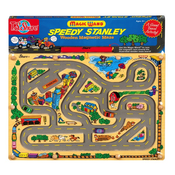 T.S. Shure Speedy Stanley Wooden Magnetic Maze 29119785