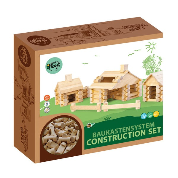 VARIS Wood Log Construction 111 Piece Set 29119848