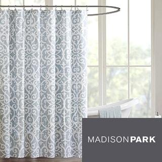 Madison Park Pure Lucia Cotton Shower Curtain