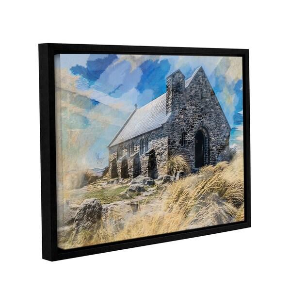 Scott Medwetz 'Church in Ireland' Gallery Wrapped Floater Famed Canvas Wall Art 29126166
