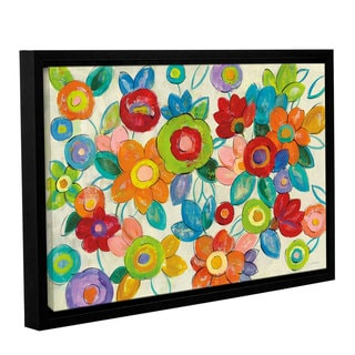 ArtWall Silvia Vassileva 'Decorative Flowers Bright' Gallery-wrapped Floating Frame Canvas Wall Art