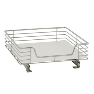 Deep 20-inch Glidez Sliding Under-Cabinet Organizer, Chrome with Liner