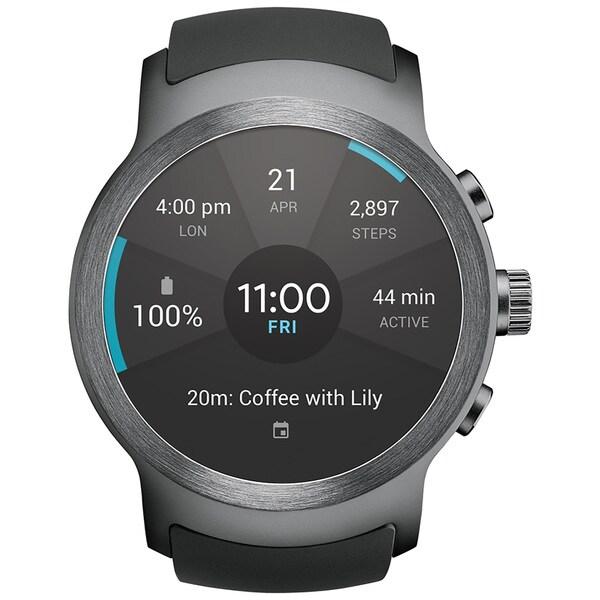 LG Watch Sport LG-W280A Unlocked Wi-Fi Smartwatch with Android Wear 2.0 & Gorilla Glass 3 - Titanium