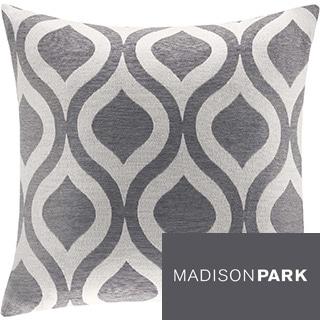 Madison Park Bergamo Chenille 20 x 20-inch Feather Down Square Pillow