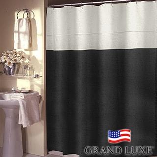 Grand Luxe Pacifica 100-percent Linen Shower Curtain