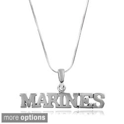 Journee Collection Sterling Silver Armed Services Pendant