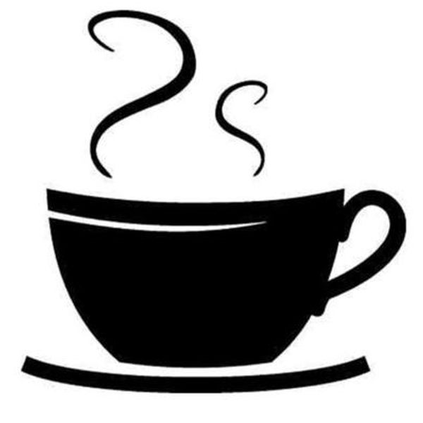 Coffe Cup Swirls Wall Vinyl 29223376