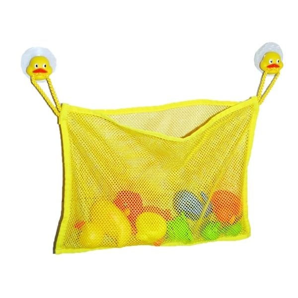 Evideco Bath Tub Toys Organizer DUCK HEADS -Suction Cups Yellow 29273532