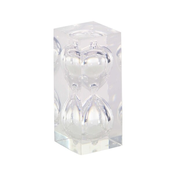 Studio 350 Resin Glass 15 Min Sandtimer 2 inches wide, 6 inches high 29279312
