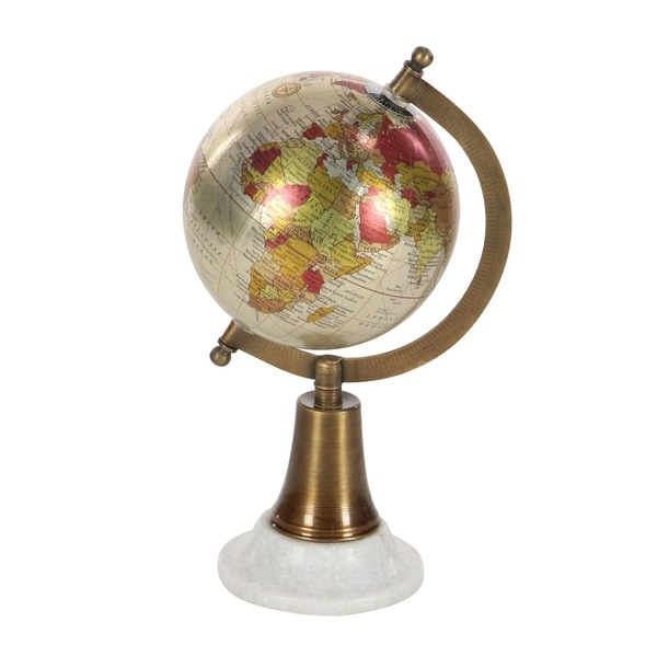 Studio 350 Metal Marble PVC Globe 6 inches wide, 11 inches high 29279776