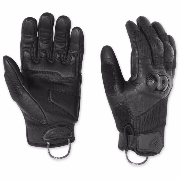 Outdoor Research Men's Piledriver Molded Knuckle Motorcycle Gloves Black Small 29298700
