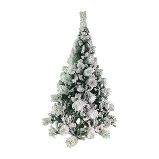 ALEKO Snow Dusted 5 ft Holiday Christmas Tree with Green Metal Stand