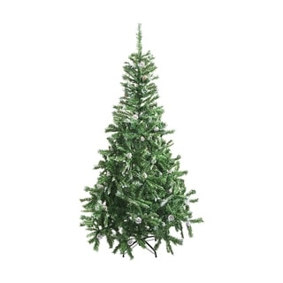 ALEKO Luscious 5' Christmas Holiday Tree with Snow Covered Pine Cones