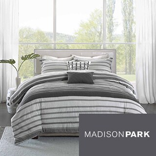 Madison Park Pure Avila 5-Piece Cotton Duvet Cover Set