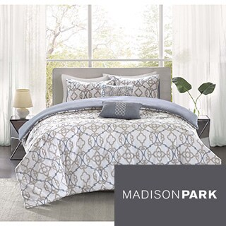 Madison Park Pure Nicola 5-Piece Cotton Duvet Cover Set
