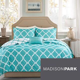 Madison Park Essentials Concord Reversible 4-piece Coverlet Set