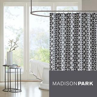 Madison Park Pure Andrea Cotton Shower Curtain--2 Colorways